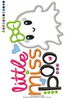 Little Miss Boo - Applique Machine Embroidery Design