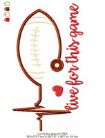 Live For This Game - Football - Machine Embroidery Design