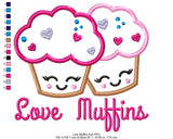 Love Muffins  - Applique - Machine Embroidery Design