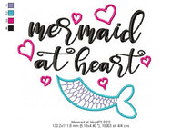 Mermaid at Heart - Fill Stitch - Machine Embroidery Design