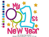 My 1st New Year - Applique - 4x4 5x5 6x6