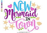 New Mermaid in Town - Fill Stitch - 4x4 5x5 6x6 7x7