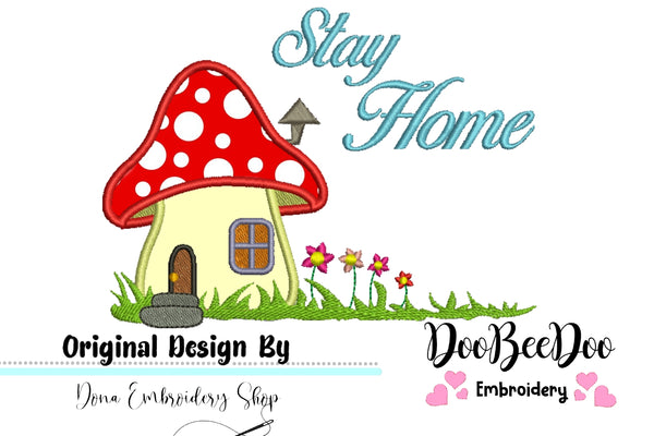 Saty Home Mushroom House - Applique - 2x3/3x4/4x5/4x6