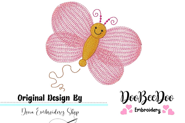 Butterfly - Rippled - Machine Embroidery Design