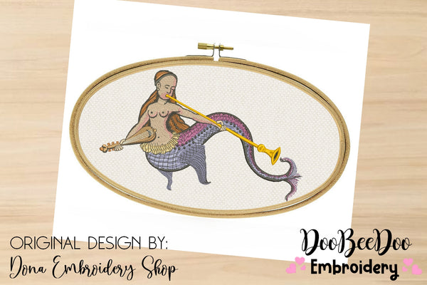 Mermaid Medieval - Satin Stitch - 5x7 7x12