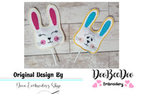 Bunny Sucker Topper (ITH) - Pack with 2 designs - 3.17″x4.53″  3.70″x5.27″ 5.93″x8.43″ 6.36″x9.05″7.16″x10.20″