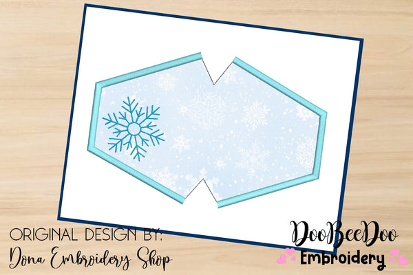 Snowflake Face Mask - ITH - 3 Sizes - Machine Embroidery Designs