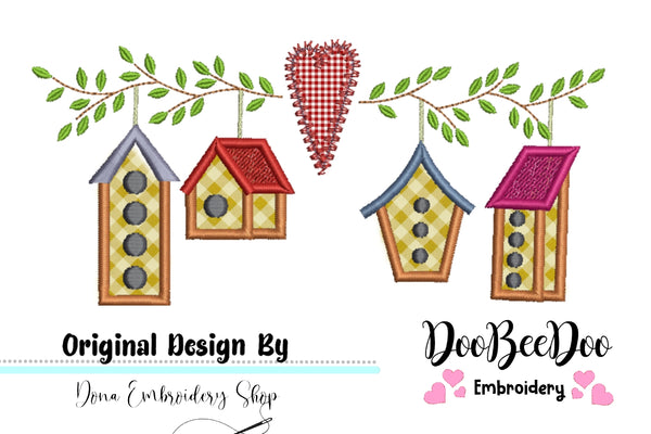 Bird Houses - Applique - 3x2 4x3 5x4 6x5 7x6