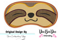 Sloth Sleep Mask - Applique - Machine Embroidery Design