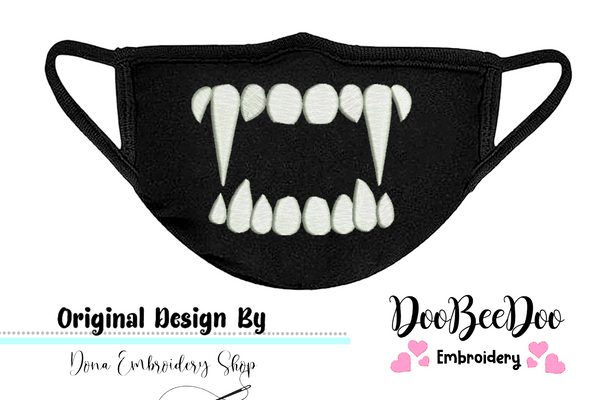 Teeths for Face Masks - Fill Stitch - 4x5 5x6 6x7 7x8