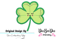 Cute Clover - Applique - Machine Embroidery Design