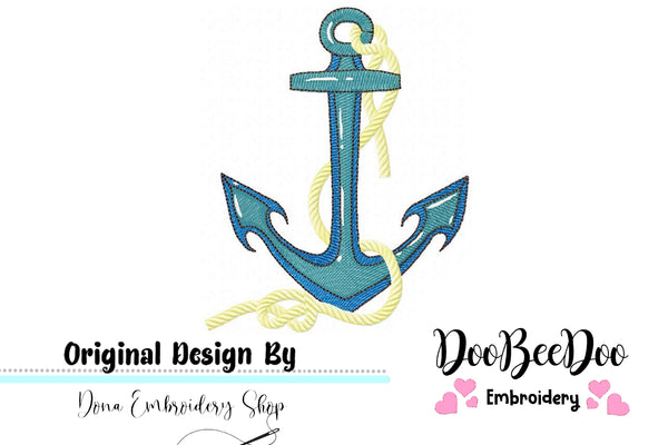 Anchor - Fill Stitch - Machine Embroidery Design