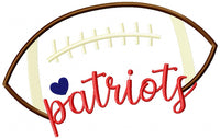 Football Patriots Ball - Machine Embroidery Design (4055362043952)