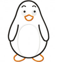 Penguin - Applique - 4x4 5x5 6x6 7x7