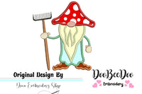 Garden Gnome - Applique - Machine Embroidery Design
