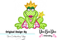 Fairy Frog - Applique - Machine Embroidery Design
