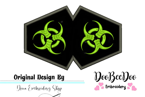 Biohazard  - ITH - 3 Sizes - Machine Embroidery Designs