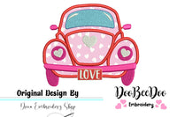 Love Beetle - Applique - Machine Embroidery Design