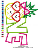 Summer Pineapple Birthday One - Applique - 5x7 6x10 7x12
