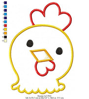 Rooster - Applique - Machine Embroidery Design