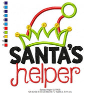 Santa's Helper - Elf Hat - Applique - 4x4 5x7 6x10