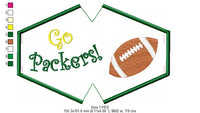 Go Packers! In The Hoop Face Mask - ITH - 3 Sizes - Machine Embroidery Design