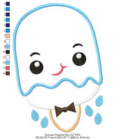 Summer Popsicle Boy and Girl - Applique - 4x4 5x7 6x10 7x12