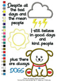 I Still Believe in Good Days and Kind People. Plus There are Always Dogs - Applique - Machine Embroidery Design