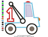 Tow Truck Number 1 - Applique - 4x4 5x5 6x6 7x7