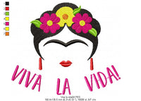Frida Kahlo Viva la Vida! - Geek - Machine Embroidery Design