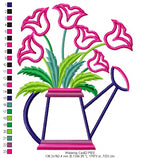 Watering Can - Applique - Machine Embroidery Design