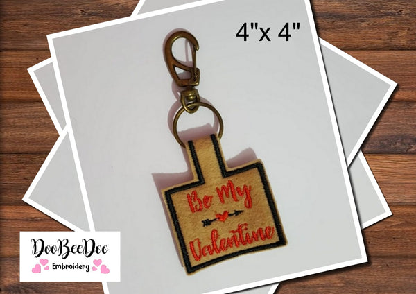 Be My Valentine - Keychain - Machine Embroidery Design
