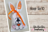 Easter Bunny Bag (ITH) - Hoop 6x10-  Applique - Machine Embroidery Design