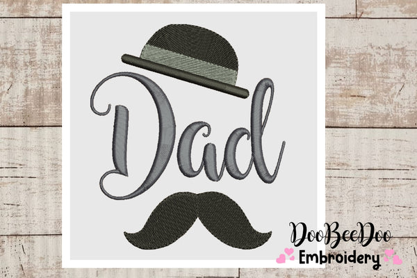 Dad -  Fill Stitch - 6 Sizes  - Machine Embroidery Designs