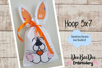 Easter Bunny Bag (ITH) - Hoop 5x7-  Applique - Machine Embroidery Design