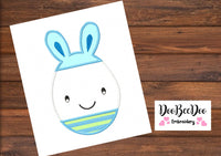 Easter Egg Boy  - Applique  - Machine Embroidery Design