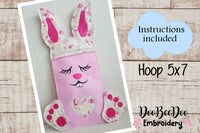 Candy Easter Bunny Bag (ITH) - Hoop 5x7-  Applique