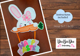 Easter Bunny Holder (ITH) - Applique - Machine Embroidery Design