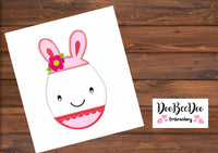 Easter Egg Girl  - Applique  - Machine Embroidery Design