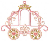 Princess Carriage - Machine Embroidery Design