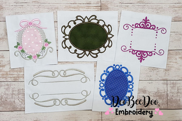 Set of 50 amazing Frames - Applique & Fill Stitch - Many Sizes