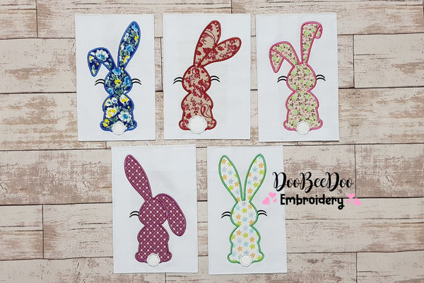 Easter Bunny Silhouette Collection - Applique - Set of 5 designs - 4x4 5x4 5x7 5x8 6x10 7x12