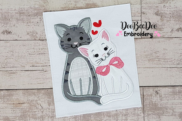 Cats in Love - Applique - 4x4 5x5 6x6 7x7