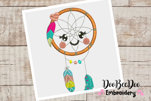 Dream filter Boho embroidery - Applique - 6 Sizes  - Machine Embroidery Design