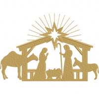 Nativity - Fill Stitch - 4x4 5x4 5x7 5x8 6x10 7x12