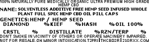 30 30mg 100% PURE SOLVENTLESS ADDITIVE FREE HEMP SEED OIL INFUSED WHOLE PLANT AMBIENT OIL PILL CAPS. T2PRI - T2PRI