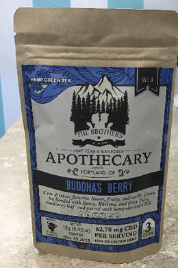 THE BROTHERS APOTHECARY BUDDHA'S BERRY HEMP GREEN TEA - T2PRI