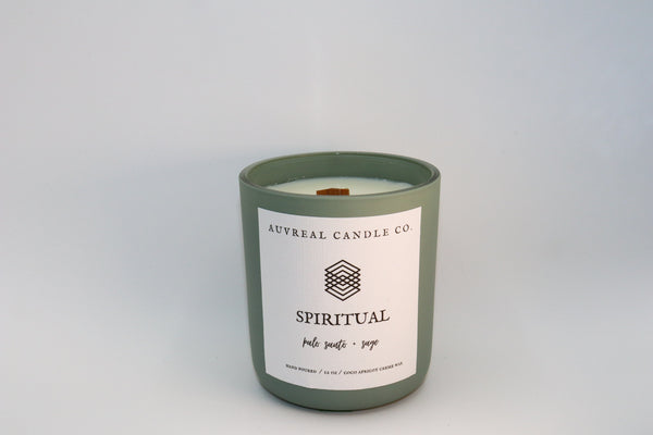 Spiritual is a cleansing blend that captures the deep, woody richness of palo santo and a mystical blend of sage, cedar wood and clove. Giving a vibe of calm and relaxation, the perfect addition to your bath time ritual or meditation time.