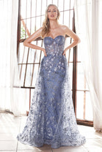 Load image into Gallery viewer, Eva Prom Gown Strapless Corset Bodice Tulle Skirt C-CB046-SmokeyBlue