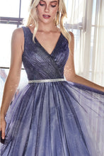 Load image into Gallery viewer, Gerri Prom Dress Ombre Ballgown with glitter tulle C053ER-Navy